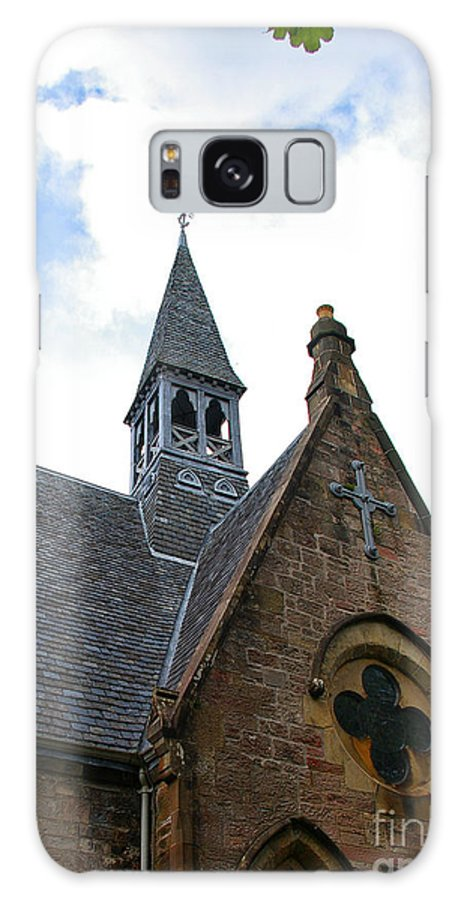 Church Galaxy S8 Case featuring the photograph Luss Church Steeple by Nancy L Marshall