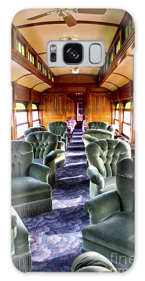 Railroad Galaxy S8 Case featuring the photograph Luxury Lounge Car Of Early Railroading by Paul W Faust - Impressions of Light