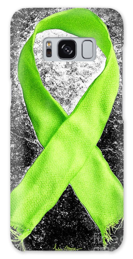 Lyme Galaxy S8 Case featuring the photograph Lyme Disease Awareness Ribbon by Luke Moore