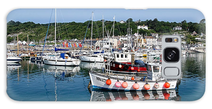 Lyme Regis Galaxy S8 Case featuring the photograph Lyme Regis Harbour On A July Morning by Susie Peek