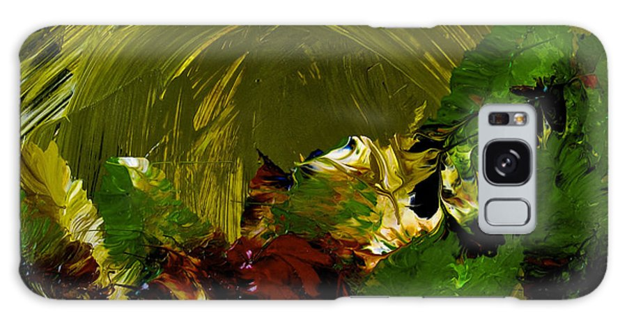Abstract Painting Galaxy Case featuring the painting Intuitive Painting 803 by Joan Reese