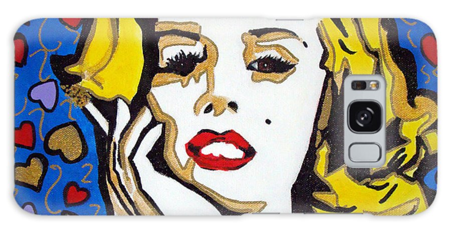 Pop-art Galaxy S8 Case featuring the painting M M by Silvana Abel