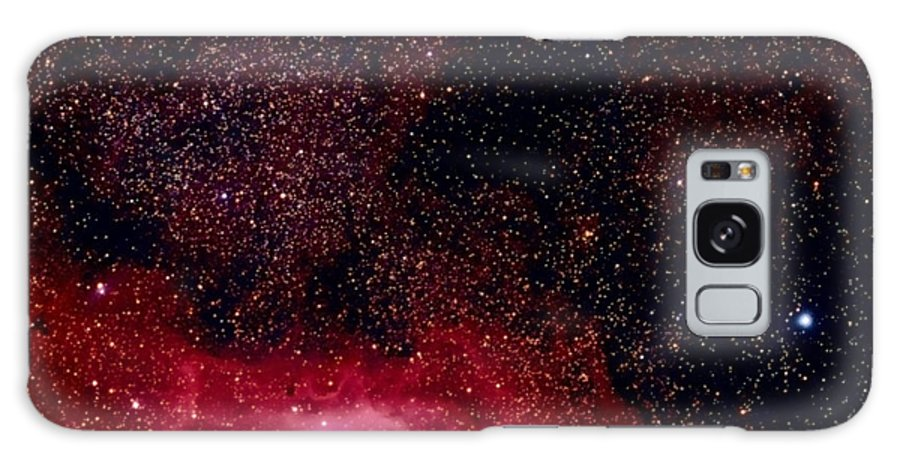 New Mexico Galaxy Case featuring the photograph M8 The Lagoon Nebula And M20 The Trifid by A. V. Ley