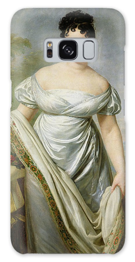 Theresa Galaxy S8 Case featuring the photograph Madame Tallien 1773-1835 Oil On Canvas by Jacques Louis David