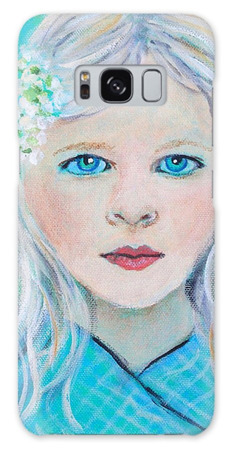 Angel Galaxy S8 Case featuring the painting Madelyn Little Angel Of Clear Vision by The Art With A Heart By Charlotte Phillips