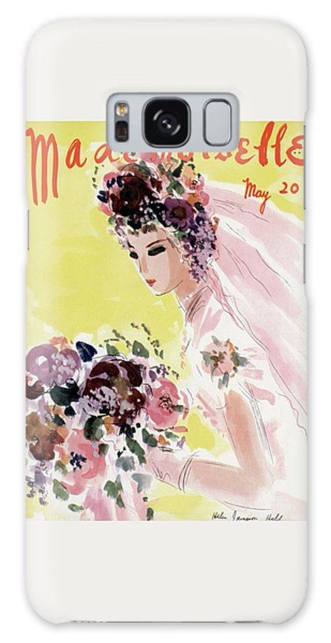 Illustration Galaxy S8 Case featuring the photograph Mademoiselle Cover Featuring A Bride by Helen Jameson Hall