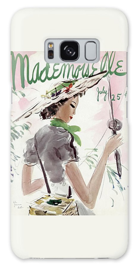 Illustration Galaxy S8 Case featuring the photograph Mademoiselle Cover Featuring A Woman Holding by Helen Jameson Hall
