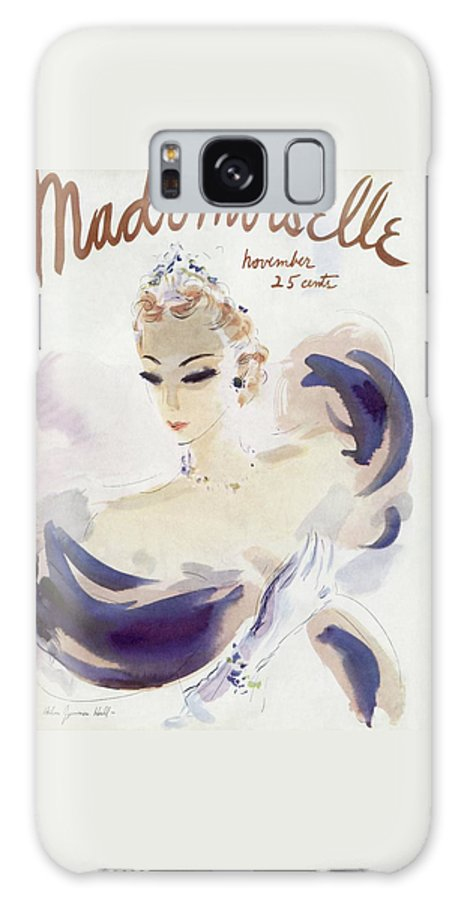 Fashion Galaxy S8 Case featuring the photograph Mademoiselle Cover Featuring A Woman In A Gown by Helen Jameson Hall