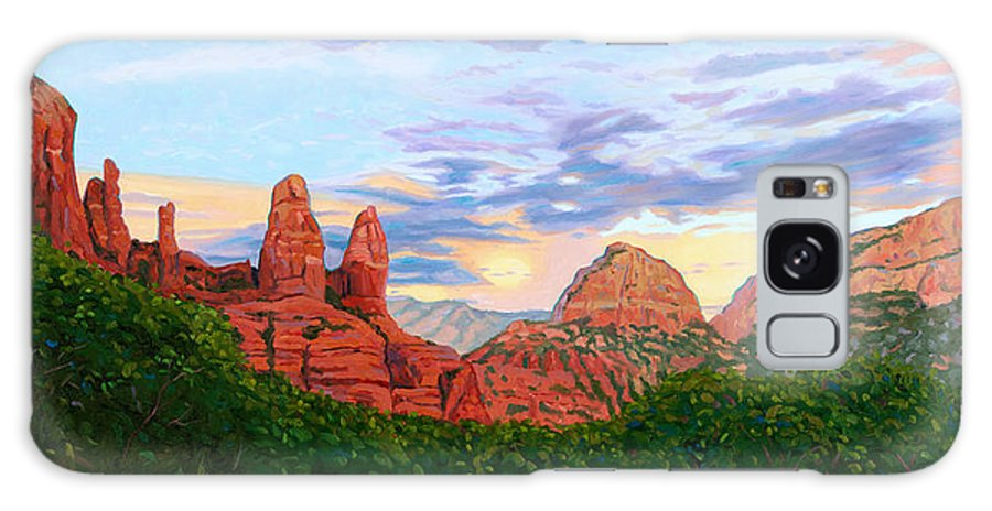Madonna Galaxy S8 Case featuring the painting Madonna And Nuns - Sedona by Steve Simon