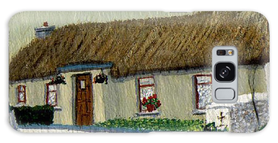 Thatched Cottage Galaxy S8 Case featuring the painting Maggie's by Barbara McDevitt