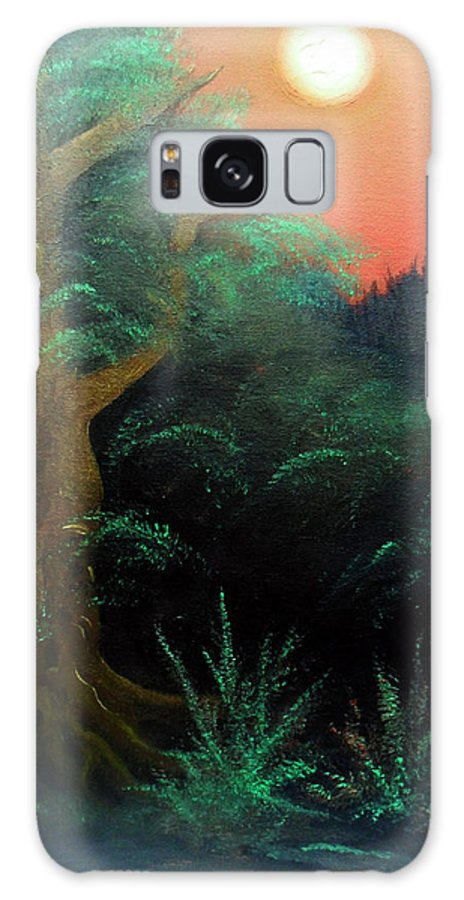 Landscape Galaxy Case featuring the painting Magic forest by Sergey Bezhinets