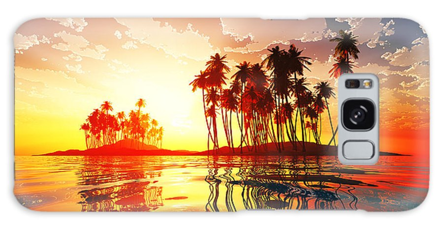 Islands Galaxy S8 Case featuring the photograph Magic Sunset In Clouds by Aleksey Tugolukov