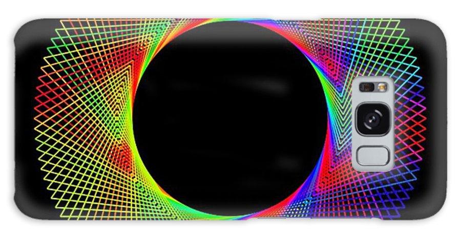 Digital Art Abstract Magic Wheel. 2 Galaxy S8 Case featuring the digital art Magic Wheel 2 by Gayle Price Thomas