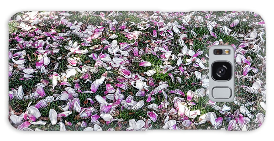 Photography Galaxy S8 Case featuring the photograph Magnolia Petals by Nancy Aurand-Humpf