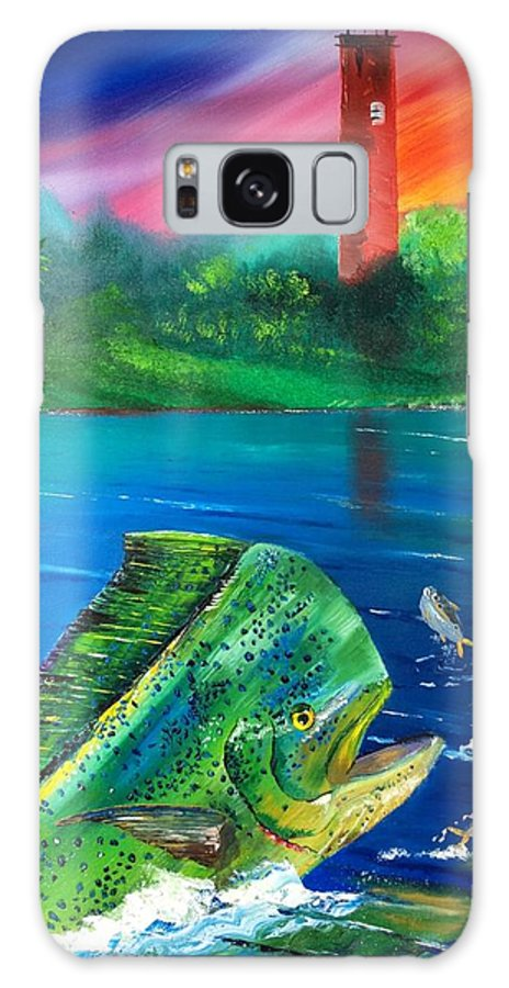 18x24 Inch Galaxy S8 Case featuring the painting Mahi Mirror by Kevin Brown