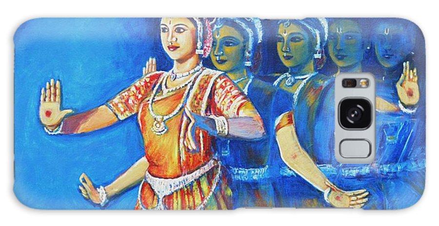 Mahishaasura Mardini Galaxy S8 Case featuring the painting Mahishaasura Mardini by Usha Shantharam