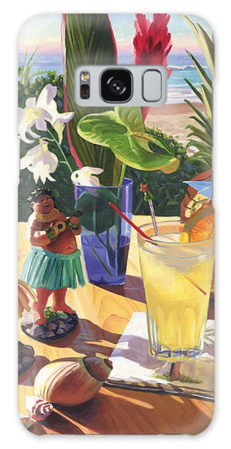 Mai Tai Galaxy Case featuring the painting Mai Tai by Steve Simon