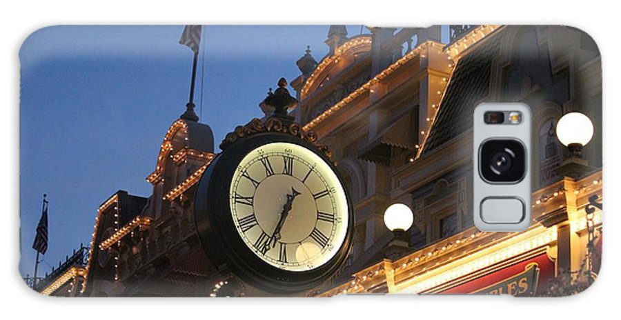 Clock Galaxy S8 Case featuring the photograph Main Street by Nance Larson