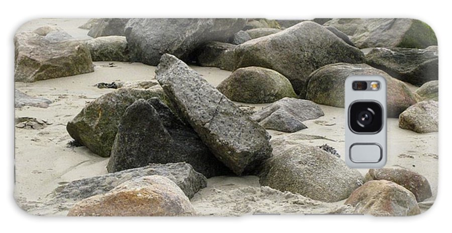 Galaxy S8 Case featuring the photograph Maine Beach Rocks by Elizabeth-Anne King