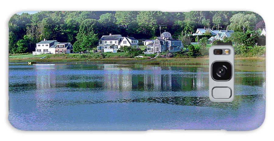 Maine Galaxy Case featuring the photograph Maine Lakefront by Suzanne Gaff