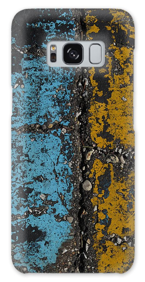 Maize And Blue Galaxy S8 Case featuring the photograph Maize And Blue 2 by Mary Bedy