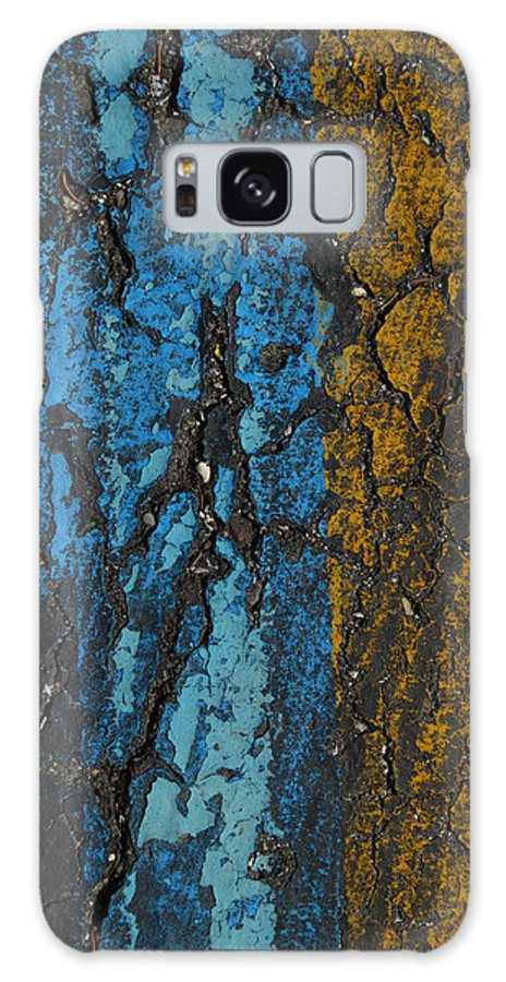 Parking Lot Galaxy S8 Case featuring the photograph Maize And Blue by Mary Bedy