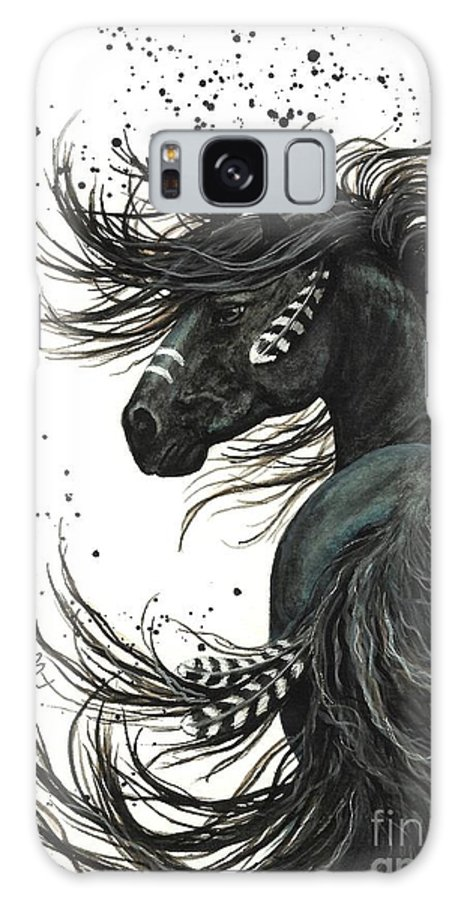 Mm65 Galaxy Case featuring the painting Majestic Spirit Horse I by AmyLyn Bihrle