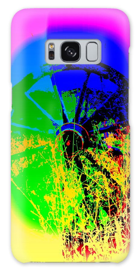 Wheel Galaxy S8 Case featuring the photograph People Must Make The Wheel Go Round, Or Else The Grass Will Grow High And Bury It by Hilde Widerberg