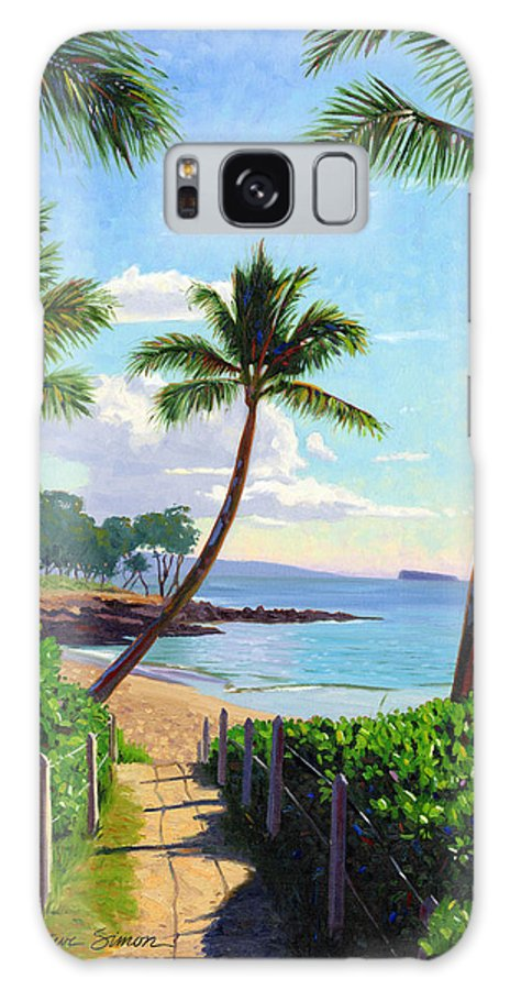 Makena Galaxy S8 Case featuring the painting Makena Beach - Maui by Steve Simon