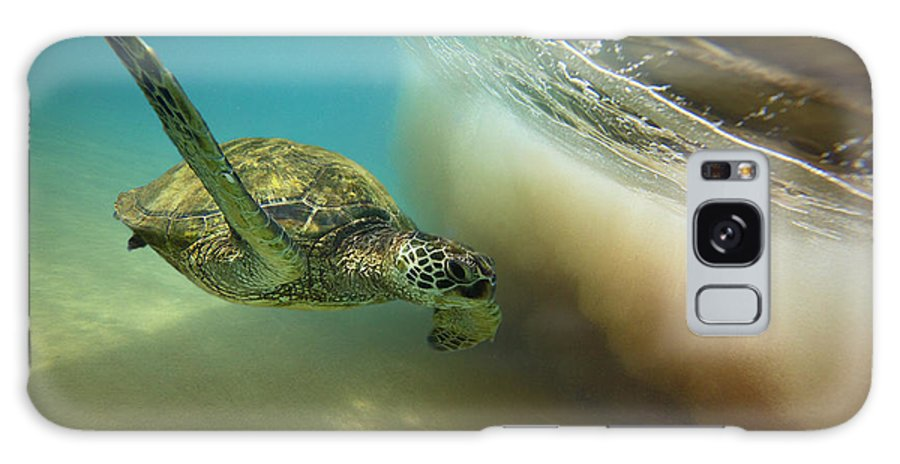 Makena Shorebreak Turtle Maui Hawaii Waves Galaxy S8 Case featuring the photograph Makena Surfer by James Roemmling