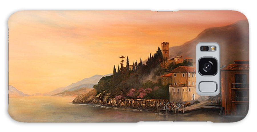 Malcesine Galaxy S8 Case featuring the painting Malcesine Lake Garda Italy by Jean Walker