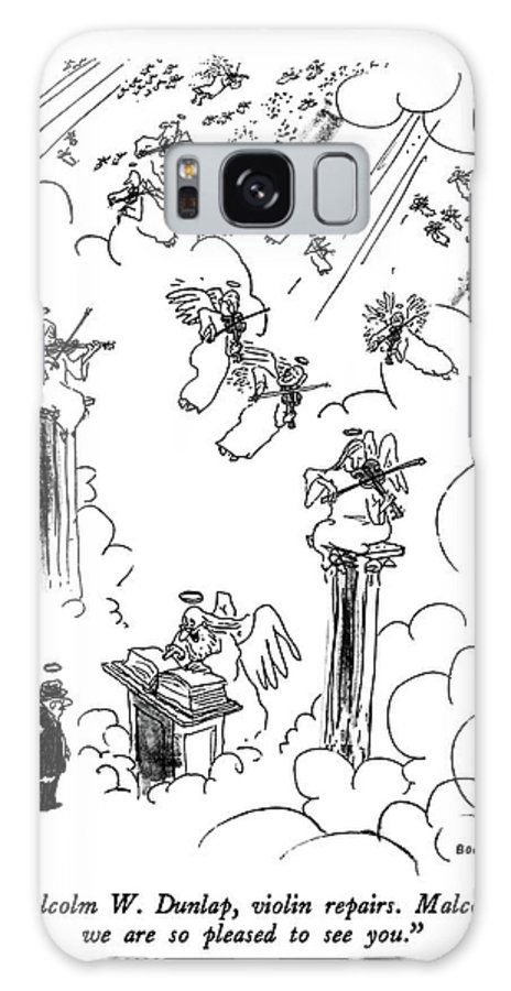 St. Peter To Man Entering Heaven Galaxy S8 Case featuring the drawing Malcolm W. Dunlap by George Booth