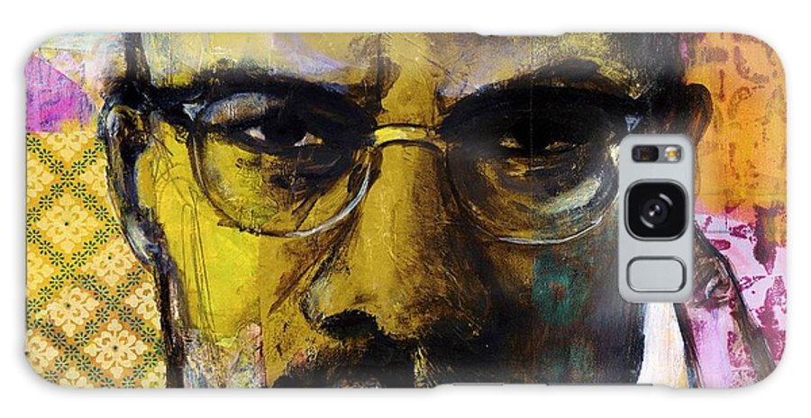 Malcom X. Galaxy S8 Case featuring the painting Malcolm X by Melinda Jones