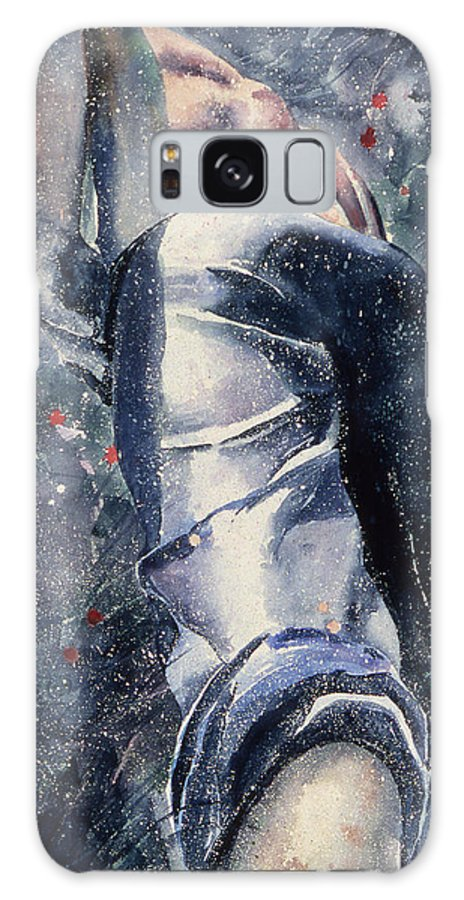 From The Back Galaxy S8 Case featuring the painting Male Figure by Melinda Fawver