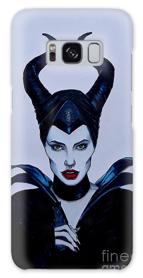 Justin Moore Galaxy S8 Case featuring the drawing Maleficent by Justin Moore