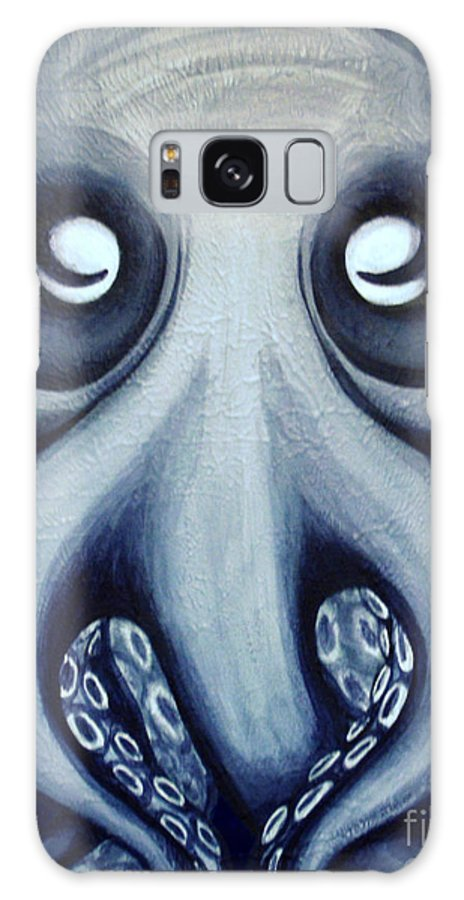 Octopus Galaxy S8 Case featuring the painting Malekei The Octopi by Sweet Colene Art
