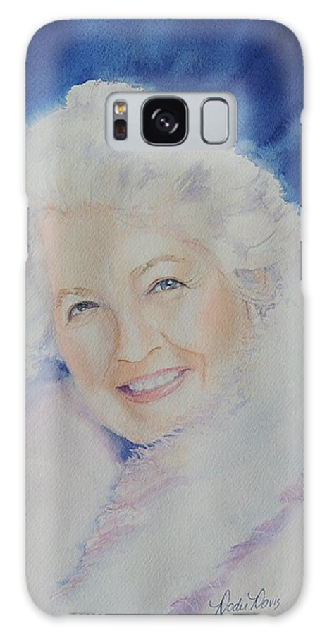 Watercolor Paintings Galaxy S8 Case featuring the painting Mama J by Dodie Davis