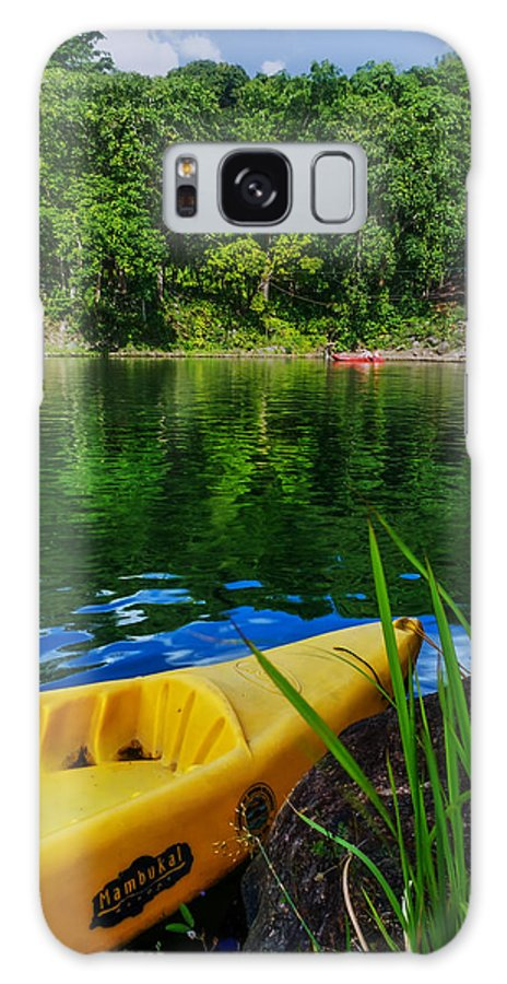 Nature Galaxy S8 Case featuring the photograph Mambu Canoe by Lik Batonboot