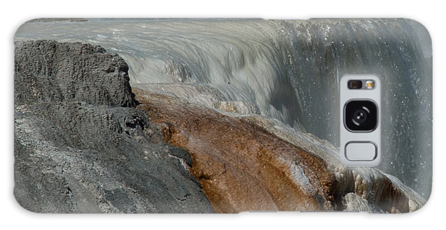 Yellowstone Np Galaxy S8 Case featuring the photograph Mammoth Springs 2.0070 by Stephen Parker