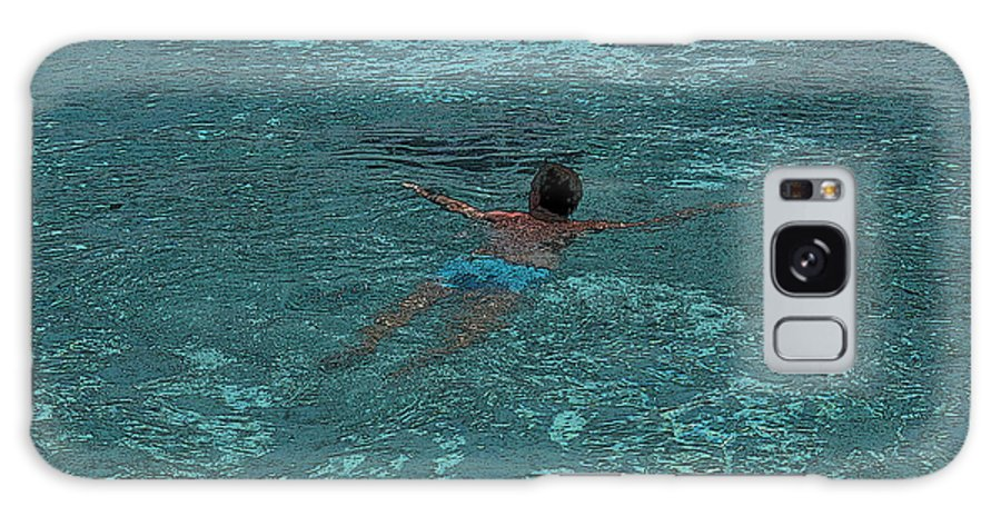 Swimmer Galaxy S8 Case featuring the digital art Man Swimming by Patricia Hofmeester