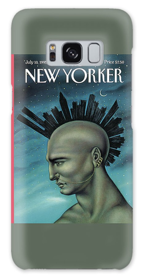 Mohawk Galaxy Case featuring the painting Mohawk Manhattan by Anita Kunz