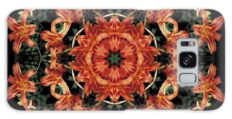 Mandala Galaxy Case featuring the photograph Mandala Daylily by Nancy Griswold
