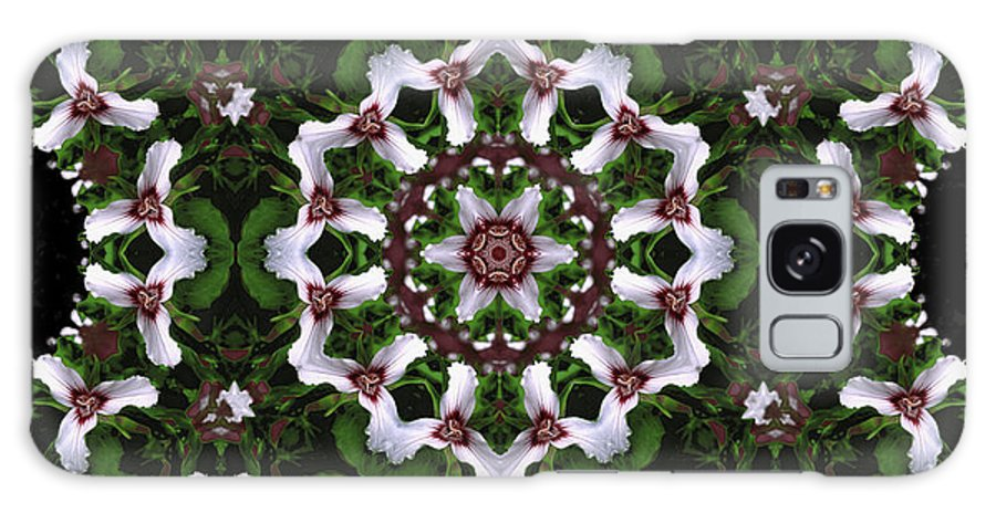 Mandala Galaxy S8 Case featuring the digital art Mandala Trillium Holiday by Nancy Griswold