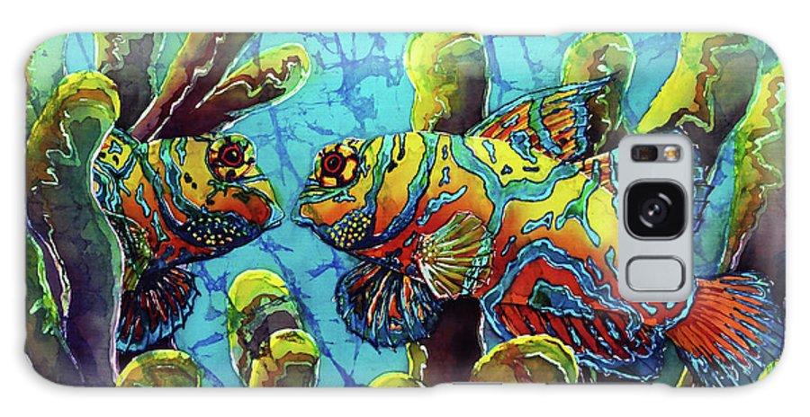 Mandarinfish Galaxy Case featuring the painting Mandarinfish by Sue Duda
