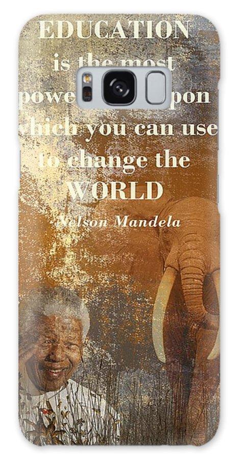 Nelson Mandela Galaxy S8 Case featuring the digital art Mandela by Sharon Lisa Clarke