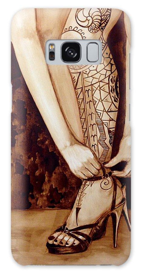 Leg Galaxy S8 Case featuring the painting Mandirigma In Stilettos by Clarisse Pastor-Medina