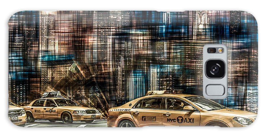 Nyc Galaxy S8 Case featuring the photograph Manhattan - Yellow Cabs - Future by Hannes Cmarits