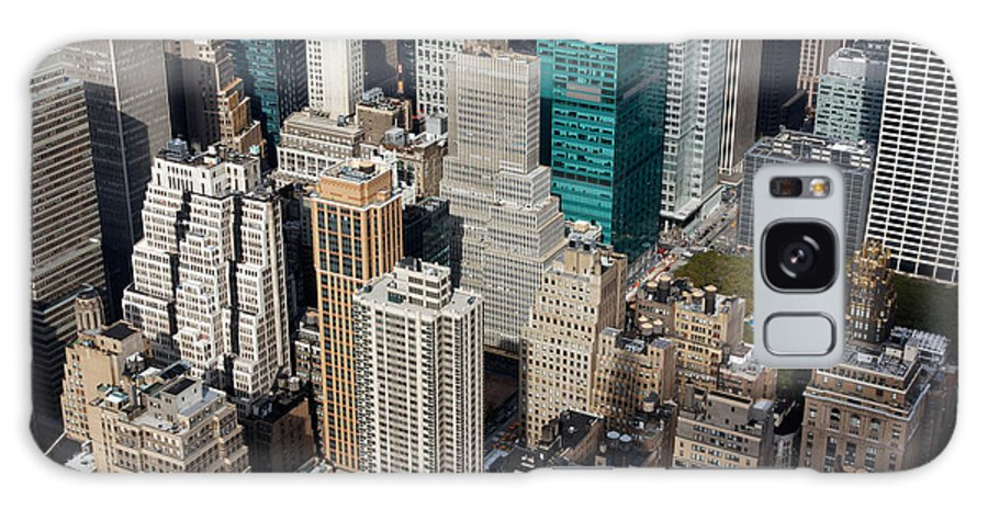 Aerial Galaxy S8 Case featuring the photograph Manhattan Bryant Park by Jannis Werner