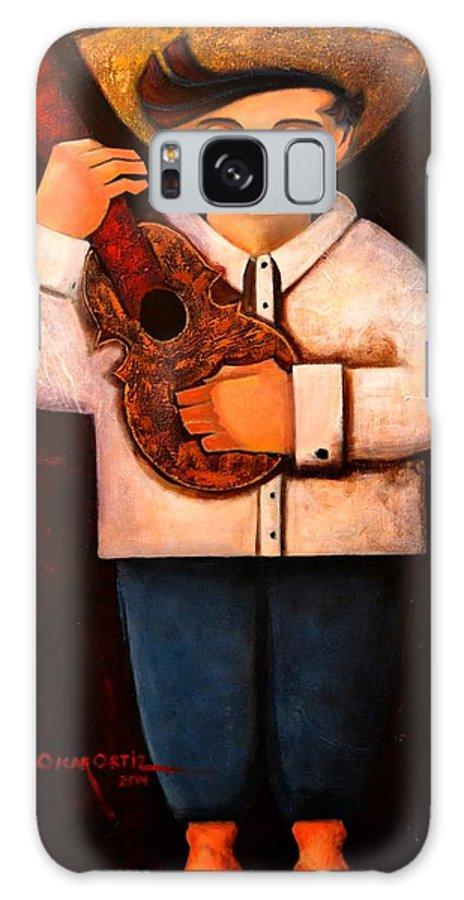 Jibarito Galaxy Case featuring the painting Manolito el cuatrista 1942 by Oscar Ortiz