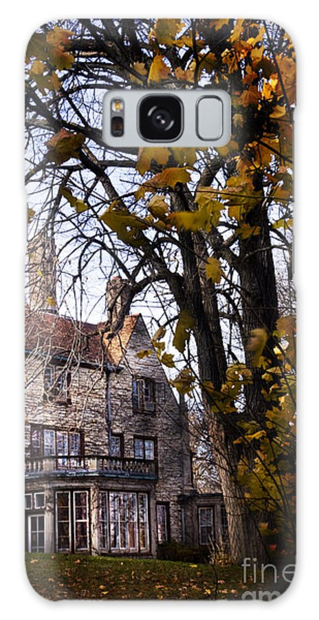 Mansion; Home; House; Outside; Fall; Autumn; Leaves; Dead; Trees; English Tudor; Outside; Outdoors; Large; Stone; Yard; Back; Stately Galaxy S8 Case featuring the photograph Manor by Margie Hurwich